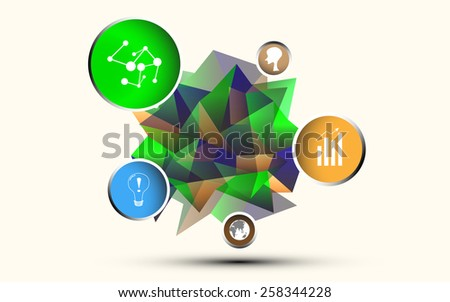 polygon choice option and icon - stock vector