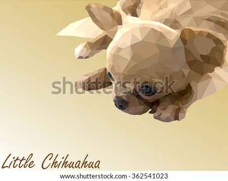 Polygon little puppy vector