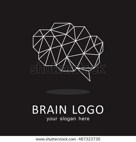 POLYGON MIND CREATIVE IDEA LOGO ICON