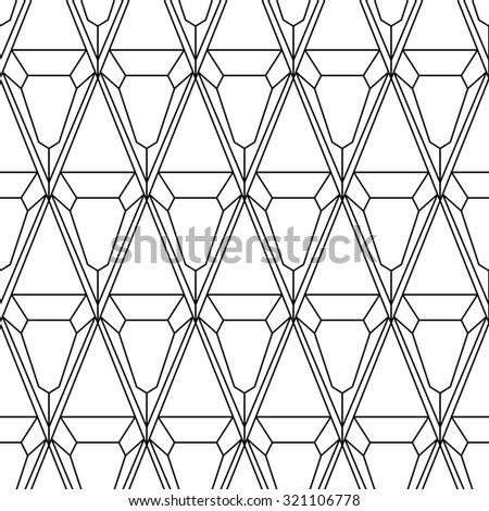 Polygon outline seamless on white background - stock vector