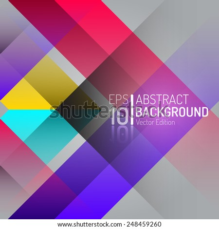 Polygon Vector Background. Isolated Vector Diamond Wallpaper. EPS10 Illustration Design - stock vector