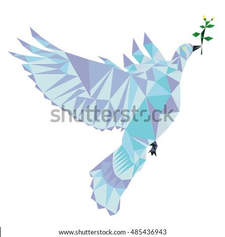 Polygon Vector Dove Peace Peace Pigeon Stock Photo Photo Vector