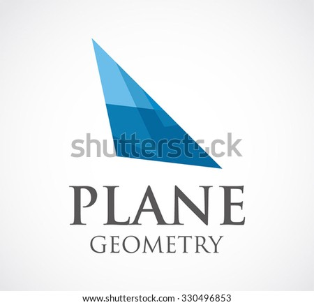 Polygon wing of geometric plane abstract vector and logo design or template aviation fly business icon of airline company identity symbol concept