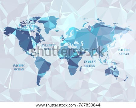 World map dots all elements separated vectores en stock 773170879 polygon world map geometric color in color in the shapes below to make a pattern gumiabroncs Gallery
