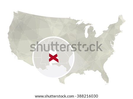 Alabama State Map Waving Flag Us Stock Vector Shutterstock - Alabama us map