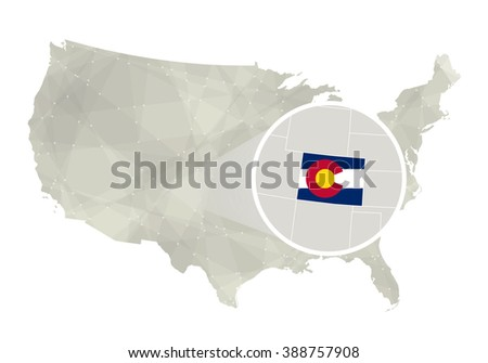 Colorado State On Usa Map Colorado Stock Vector - Colorado us map