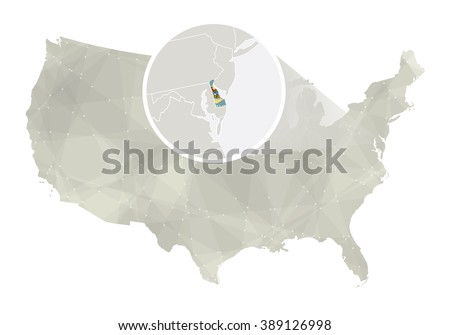 Delaware State On Usa Map Delaware Stock Vector - Delaware on us map