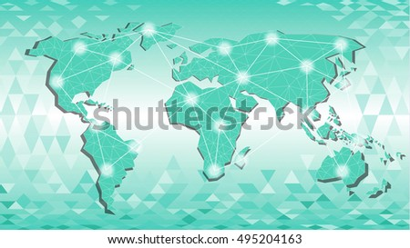 Polygonal abstract world map triangle line vectores en stock polygonal abstract world map triangle line stel color polygonal background vector illustation gumiabroncs Gallery