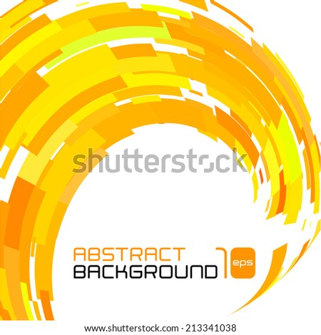 Polygonal abstract yellow background for business presentation. Vector illustration. - stock vector