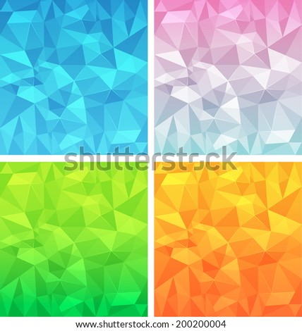 polygonal background vector set