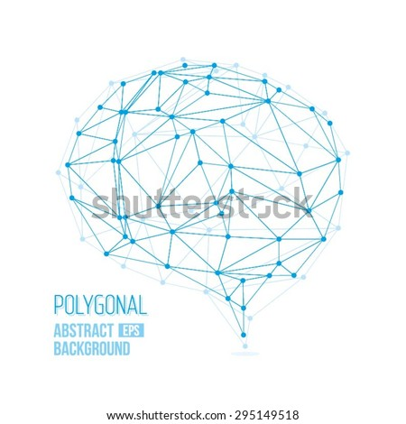 Polygonal Brain / Polygonal Abstract Vector Background