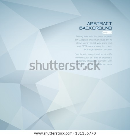 polygonal design / Abstract geometrical background - stock vector