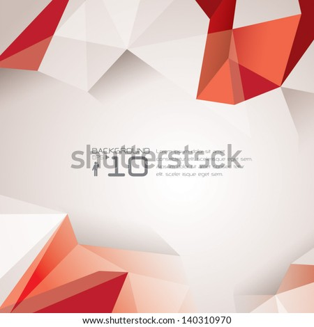 polygonal design / Abstract geometrical background. - stock vector