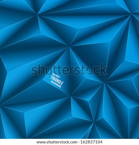 Polygonal design. Vector background - stock vector