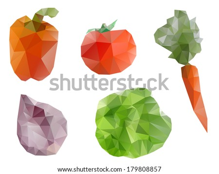 Polygonal geometric vegetables