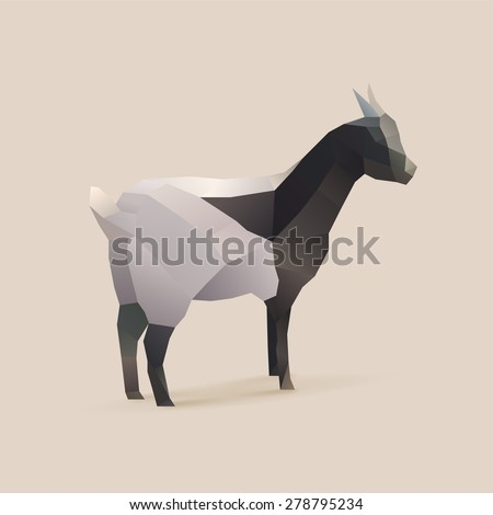 polygonal illustration of goat