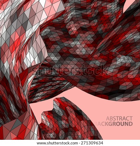 Polygonal mosaic abstract vector illustration background on the topic of space and planets - stock vector