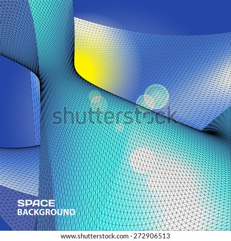 Polygonal mosaic abstract vector illustration background on the topic of space and planets