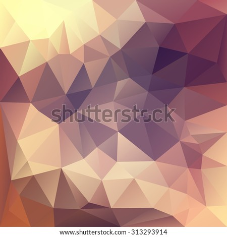 Polygonal mosaic background in pink, violet and yellow colors. Used for creative design templates