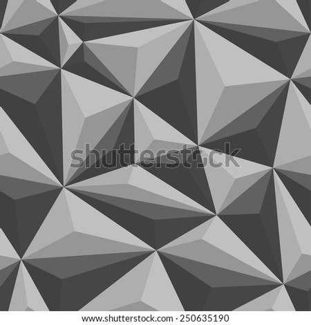 Polygonal seamless pattern. Vector background.