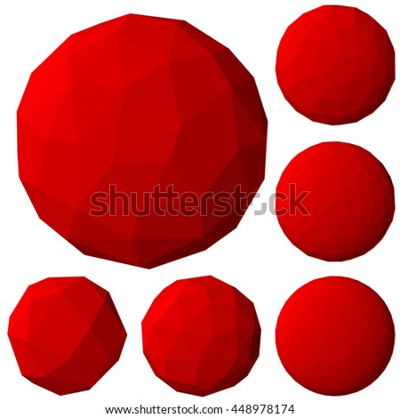 polygonal spheres set with different resolution.