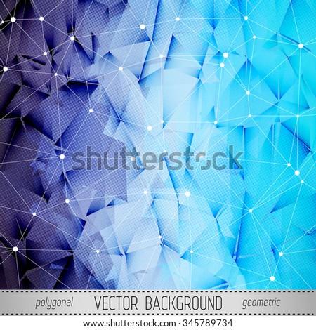 Polygonal Textured Vector Background.  - stock vector