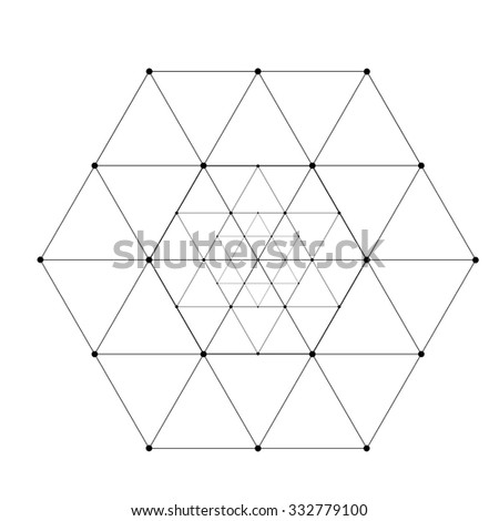 Polygonal Triangles . Hipster Line Design Element . Geometric Logo . Vector .