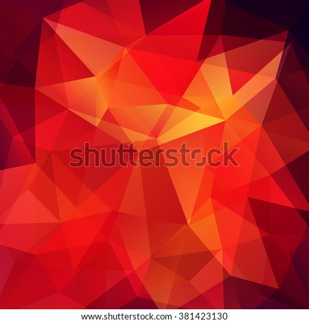 Polygonal vector background. Can be used in cover design, book design, website background. Vector illustration. Red, brown, orange colors.  - stock vector