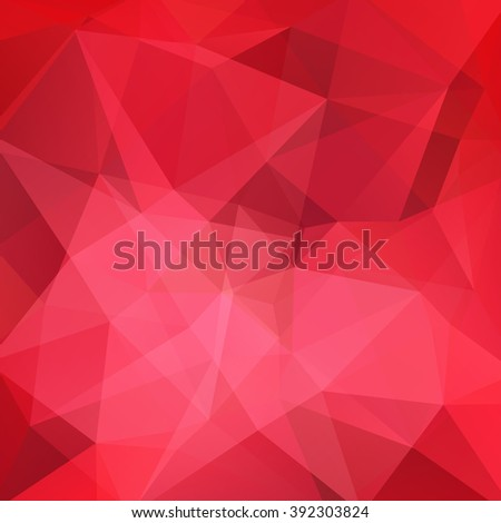 Polygonal vector background. Can be used in cover design, book design, website background. Vector illustration. Red colors.  - stock vector