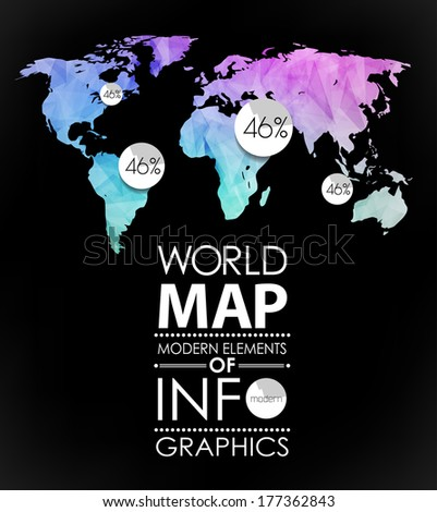 Polygonal world map card modern geometrical stock vector hd royalty polygonal world map card modern geometrical elements of info graphics world map typography gumiabroncs Image collections
