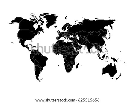 Polygonal world map countries isolated on vectores en stock polygonal world map countries isolated on transparent background vector illustration gumiabroncs Gallery
