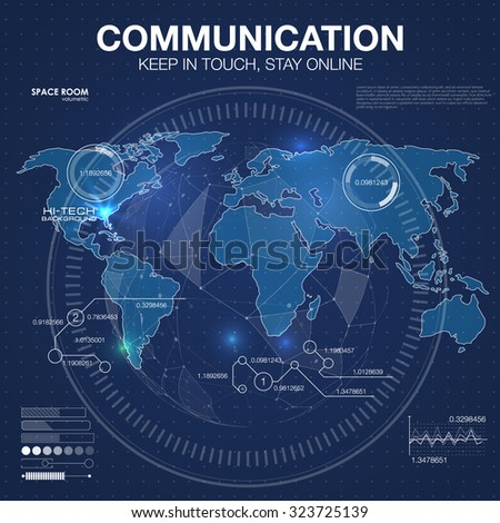 Polygonal world map global travel geography stock vector 323725139 polygonal world map global travel geography and connect continent and planet vector illustration gumiabroncs Images