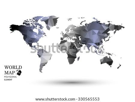 Polygonal world map vector stock vector 2018 330565553 shutterstock polygonal world map vector gumiabroncs Images
