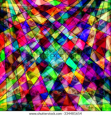 polygons psychedelic bright abstract geometric - stock vector