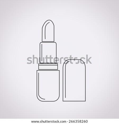 pomade lipstick icon - stock vector