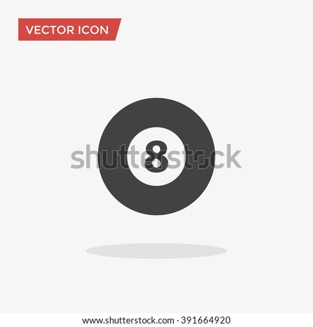 Pool ball Icon in trendy flat style isolated on grey background. Billiard symbol for your web design, logo, UI. Vector illustration, EPS10. - stock vector