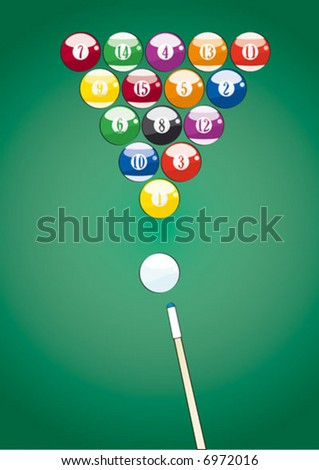 pool balls triangle