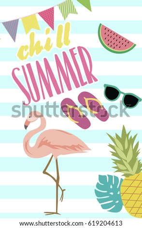 pool party invitation template card summer stock vector 619204613