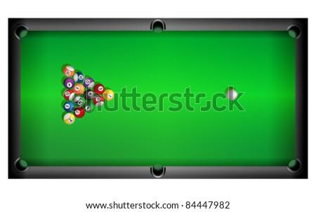 Pool table, vector - stock vector