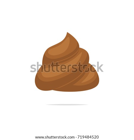 Poop vector isolated illustration