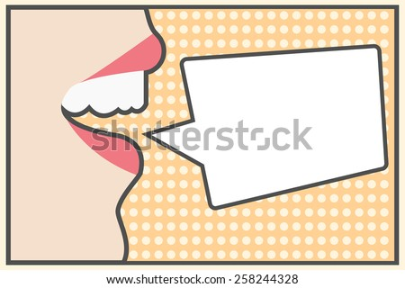 pop art background, illustration in vector format - stock vector