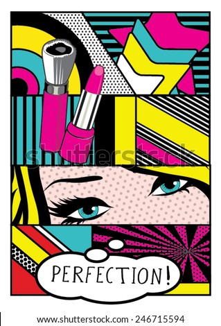Pop art Card Vector Illustration - stock vector