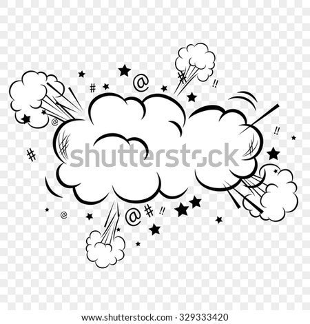 Pop art comic bubbles design, vector illustration