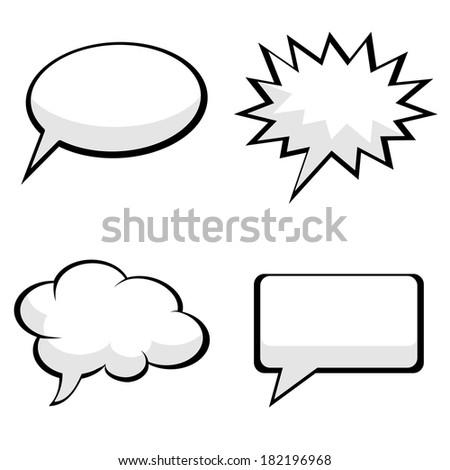 pop art comic speech bubbles - stock vector