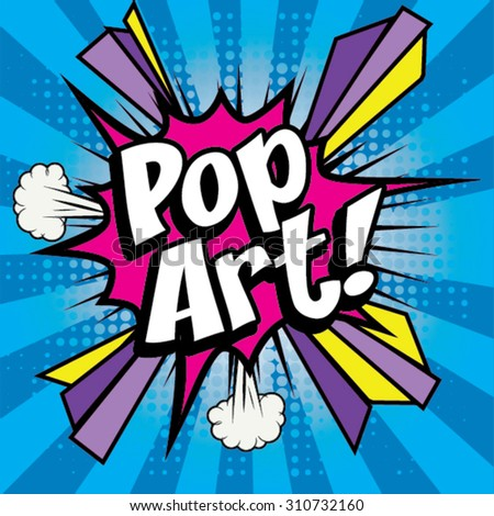 "Pop Art comics icon ""PopArt!"". Speech Bubble Vector illustration. - stock vector"
