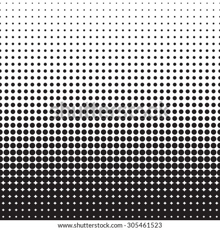 Pop art endless background. Halftone black dots on white background.