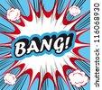 Pop Art explosion Background Bang! - stock vector