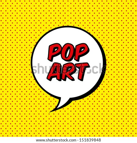 pop art explosion over dotted background. vector illustration - stock vector