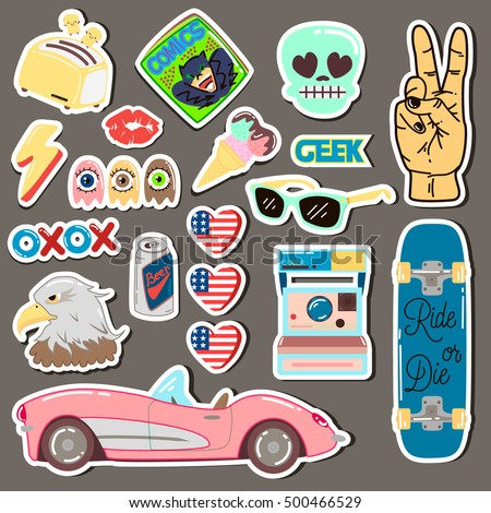 Pop Art Rock Hand Sticker
