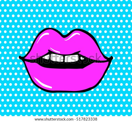 Pop Art Lips Stock Images, Royalty-Free Images & Vectors ...